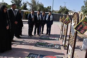 ادای احترام مدیران عامل صنعت آب و برق استان مرکزی به مقام شامخ شهدای دوران دفاع مقدس و مدافعین حرم